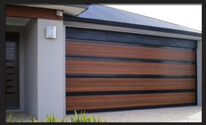 Single Alu-Wood Garage Doors