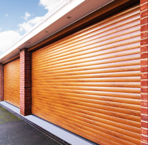 Double Alu-Wood Garage Doors