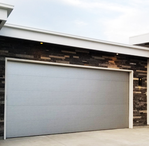 Double Aluminum Flush Garage Doors
