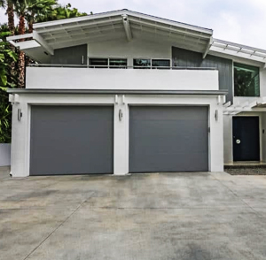 Single Aluminum Flush Garage Doors