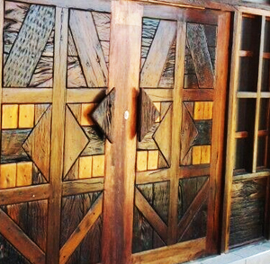 Railway Sleeper Wooden Doors